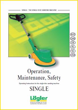 single instructions Lagler UK floor sander
