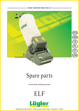 Lagler elf spare parts for floor sanders